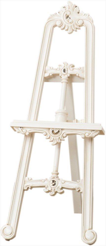 アンティーク調家具 クラシカルシリーズ イーゼル 【ホワイト】 B07CG6QW95 イーゼル ホワイト ホワイト イーゼル