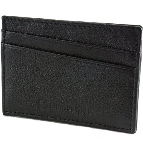 Alpine Swiss Minimalist Genuine Leather product image