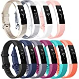 Vancle Bands Compatible with Fitbit Alta and Fitbit Alta HR, 10 Pack (10PCs-D, Small)