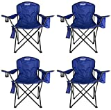4-Pack Coleman Camping – Lawn Chairs With Built-In Cooler, Blue | 4 x 2000020266