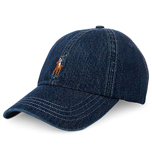 Polo Ralph Lauren Men's Denim Classic Baseball Cap Blue Adjustable