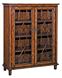Cheap Stein World Furniture Hanover Chippendale Cabinet, Rich Oak