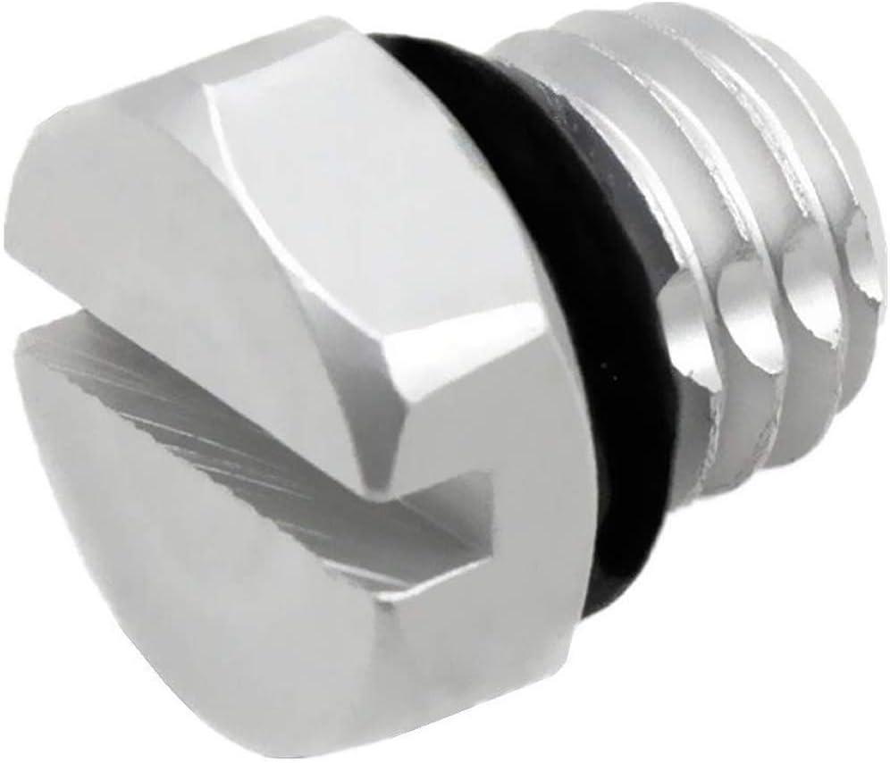 iFJF Billet Aluminum Air Bleeder Screw Replacement for GM 2001-2017 Duramax Diesel Fuel Filter (Silver)