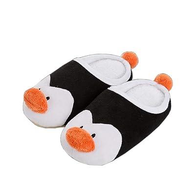 Yvonnelee Familie Set Pantoffeln Hausschuhe Pinguin süß Rutschfest kuschelig Winter, Pinguin Mädchen Herren Kind