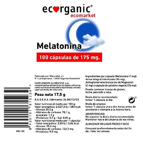 ECORGANIC Capsulas Melatonina 175Mg 100Ud Ecorgani: Amazon.es: Salud ...