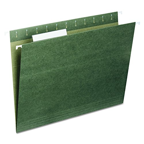 Universal 14215 Hanging File Folders, 1/5 Tab, 11 Point Stock, Legal, Standard Green (Box of 25) ()