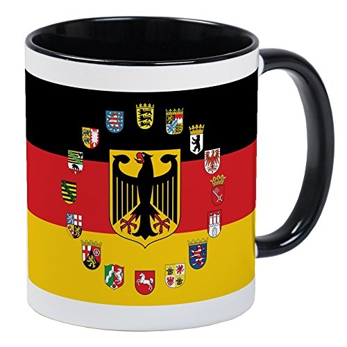 CafePress German Flag With State Arms Mugs Unique Coffee Mug, Coffee Cup