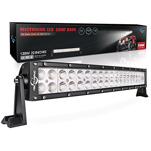 "MICTUNING 22"" 120W 3B139C Curved LED Work Light Bar Combo Off Road Driving Fog Light, 24-Month Warranty"
