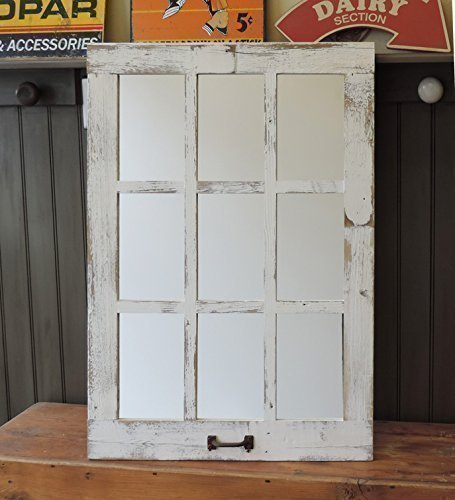 Barn Window Pane Mirror Homesteader Style--23.5