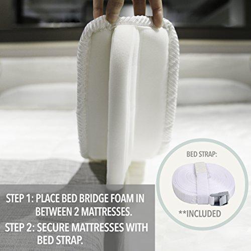 Premium Bed Bedding Accessories Bridge Twin To King