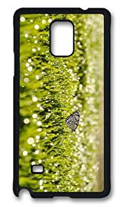MOKSHOP Adorable grass sunrise butterfly Hard Case Protective Shell Cell Phone Cover For Samsung Galaxy Note 4 - PCB