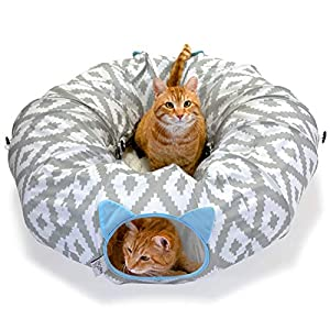Kitty City Large Cat Tunnel Bed, Cat Bed, Pop Up bed, Cat Toys