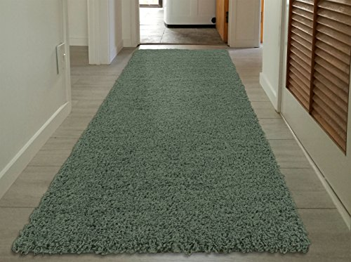 Sweet Home Stores Cozy Shag Collection Solid Shag Runner Rug