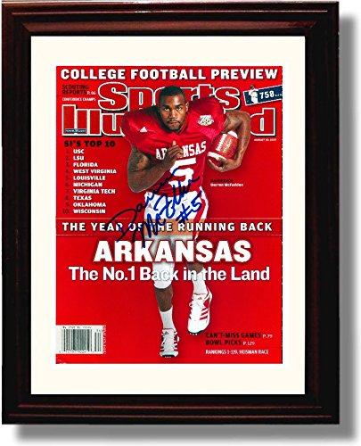 Framed Arkansas Razorbacks Darren McFadden 2007 Sports Illustrated Autograph Replica Print