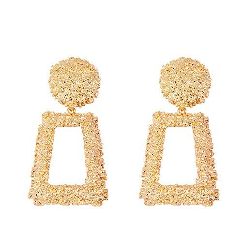 Dangling Handmade Earrings (Geometric Earrings Square Drop Dangling Gold Fill Handmade Earrings for Women)