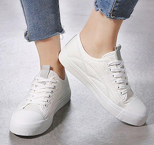 Sneakers Femme Blanc Plates Mode Basses Tennis Sport Fitness Chaussures Aisun aPwp8ndxq8
