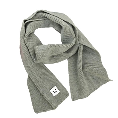 Knotted Fleece Scarf (Muxika Autumn Winter Baby Kids Cute Warm Solid Color Neck Knitting Wool Scarf (Gray 2))