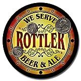 Rottler Family Golden Beer & Ale Rubber Drink Coasters