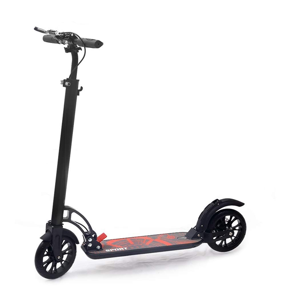 DLYDSS Adult Scooter, Razor Scooter, Commuter Scooter with Disc Brakes, Non-Electric - Black - Load-Bearing 100KG - - for Adults & Teens by DLYDSS