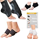 Fittest Pro Foot Sleeve, Plantar Fasciitis Heel Protectors, Arch Support Therapy Wrap and Cushioned Heel Support Value Bundle - Ankle Foot Pain Relief Sock Bundle (Pack of 8) (Large/X-Large)