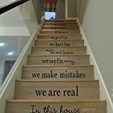 Elaco Stair Steps Sticker, DIY Wall Sticker Removable Home Decor Ceramic Tiles Patterns