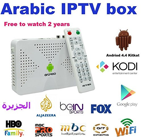 S805 Arabic Ip Tv Box 2 Year Arabox Android 4.4 Buillt in Wifi Hdmi Kodi (Iptv Android Arabic)