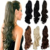FUT Jaw Claw Ponytail Extensions One Piece Clip in Curly Pony Tial Hair Extensions 18inch 150g for Girl Lady Women