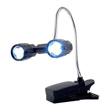 Owikar - Lámpara LED de lectura, para barbacoa o mesa, giratoria a 360 grados