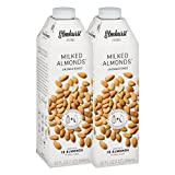 natural almond milk - Elmhurst 2pk Unsweetened Milked Almonds 32 oz. Creamy & Delicious Almond Milk. More Nuts! More Nutrition! Gluten Free, Lactose Free, Vegan Beverage.