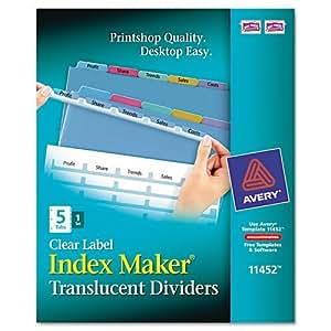 Amazoncom index maker clear label punched dividers for Letter label maker