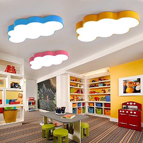 DYBLING Creative European Children's Lamp Simple Modern Led Lamp Clouds Led Children 50 cm Green Celing Lamp Lights