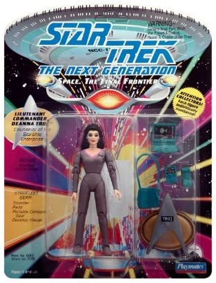 "Lt 5/"" Star Trek The Next Generation Figure Playmates Deanna Troi Cmdr"