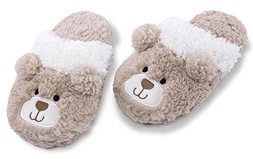 Ladies Bedroom Womens Slippers Memory Fuzzy Indoor Animal Slippers Beige Slip Foam On MaaMgic Cute With Winter zCxPqq