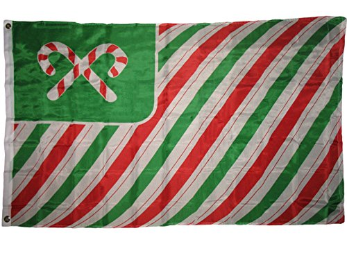 - Christmas Candy Cane Flag 3'x5' Banner