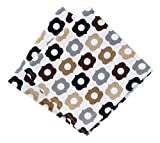 "T-fal Textiles Highly Absorbent 100% Cotton Double Sided Printed Dish Cloths, 12"" x 12"", Set of 2, Neutral Bulb Pattern"