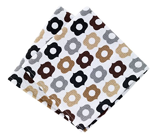 T-fal Textiles Highly Absorbent 100% Cotton Double Sided Printed Dish Cloths, 12