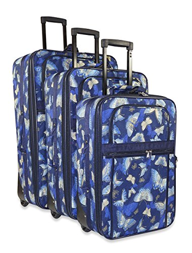 Butterfly 3-piece Luggage Set by Unknown