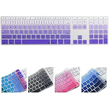 all inside ombre purple keyboard cover for imac wired usb keyboard electronics. Black Bedroom Furniture Sets. Home Design Ideas