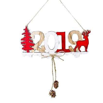 Cucina Natale 2019.Bestoyard 2019 Capodanno Ciondolo Sospeso Decorazione Porta