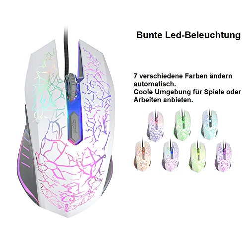 VersionTech Gaming Maus mit 7 Farbe 6 Tasten LED: Amazon.de: Elektronik