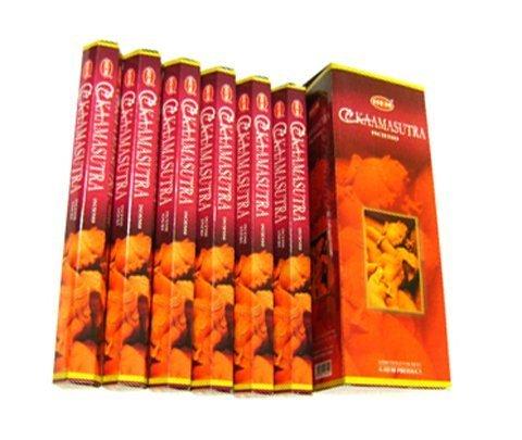 Kaamasutra (Kama Sutra) - Box of Six 20 Gram Tubes - HEM Incense