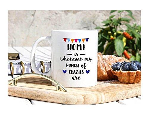 Home Is Wherever Mug - Housewarming Mug - New Home Mug - Housewarming Gifts - Family Mug Set - New Family Gift - Sweet Home Gift - 11oz 15oz