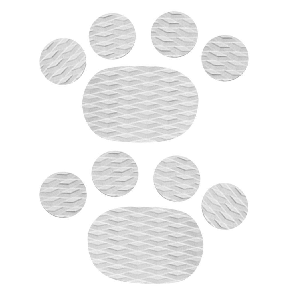 MonkeyJack 10 Pieces Diamond Grooved Grey EVA Deck SUP Traction Pad Grip for Dog Stand Up Paddleboard Surfboard - Self Adhesive & Non-slip by MonkeyJack (Image #5)