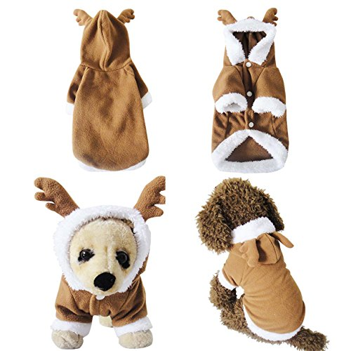 Yoption Pet Puppy Dog Christmas Halloween Clothes Outwear Coat Apparel Hoodie (XL, -