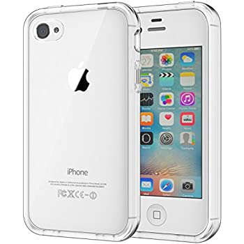 405a251466 JETech Case for Apple iPhone 4 and iPhone 4s Shock-Absorption Bumper Cover  Anti-Scratch Clear Back (HD Clear)