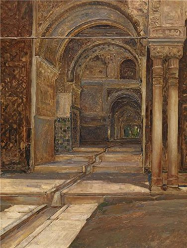 polyster Canvas ,the Amazing Art Decorative Canvas Prints of oil painting 'Alhambra in Granada by Emile Vloors,1901 ', 12x16 inch / 30x41 cm is best for Basement decoration and Home decor and Gifts