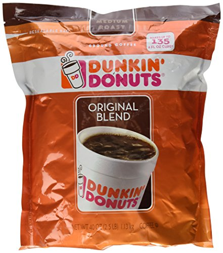 Dunkin Donuts Original Blend Instrumentality Roast Ground Coffee, 40 Ounce