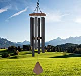 ASTARIN Wind Chimes Outdoor Large Deep Tone,36″ Sympathy Wind Chimes Large with 6 Heavy Tubes Tuned Low Bass Tone,Memorial Wind Chime Amazing Grace Large for Mom,Loved,Christmas GiftsMatte Black For Sale