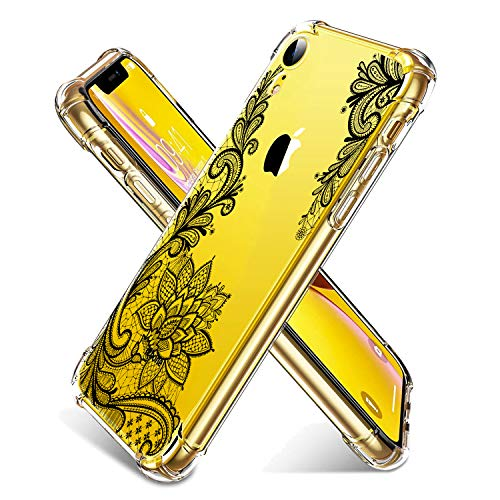 AUDIMI for iPhone XR Case 6.1 Inch (2018) Crystal Clear Shock Absorption Bumper Soft TPU Cover Case Transparent Flexible Cover for iPhone XR-Black