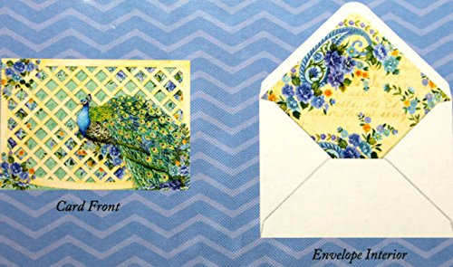 Punch! Software 12 Blank Die Cut Peacock Note Cards, Incl...